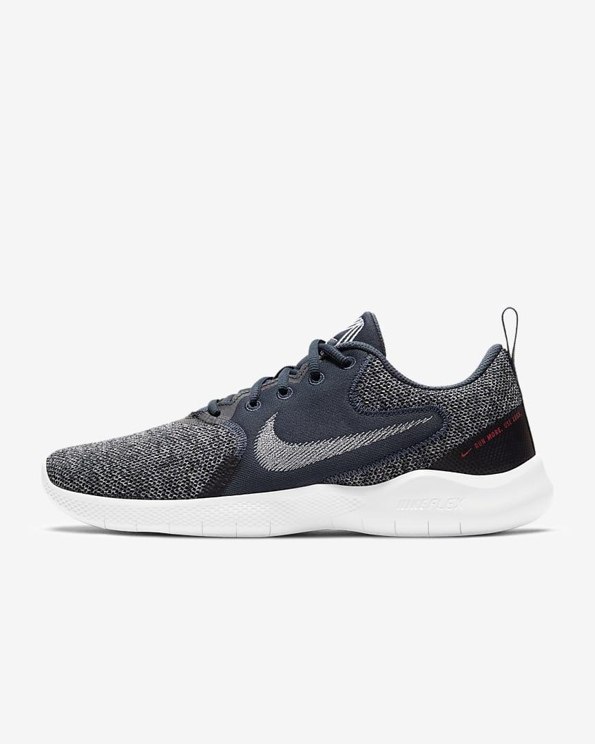 Nike Flex Experience Run 10 Men\'s Road Running Shoes Thunder Blue/Black/White/Pure Platinum
