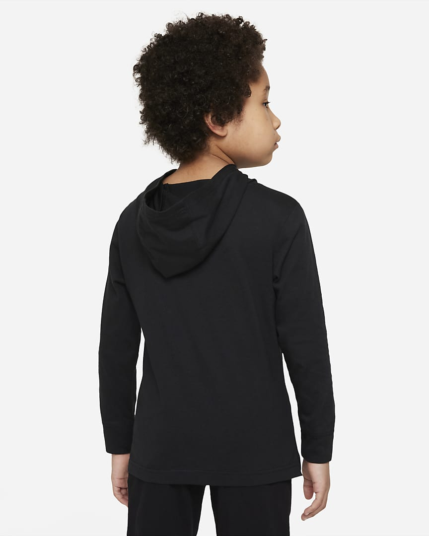 Nike Little Kids\' Hooded T-Shirt Black