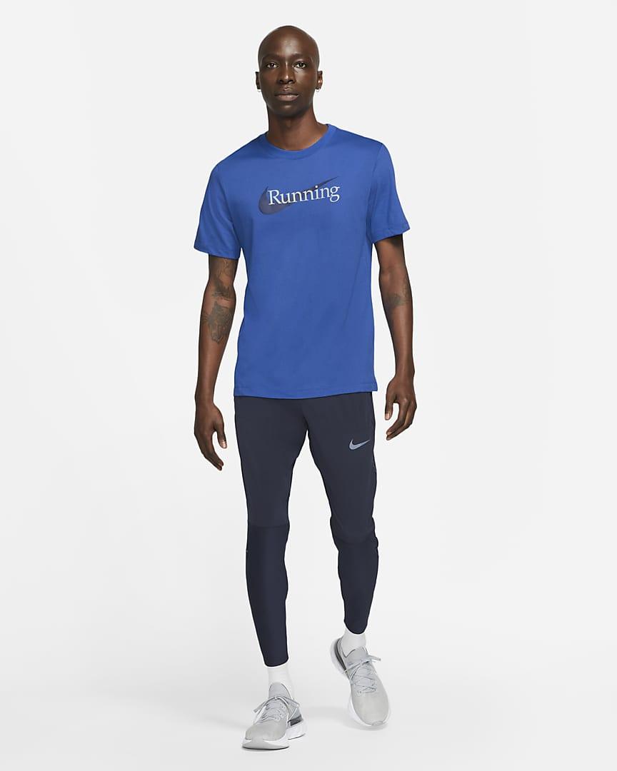 Nike Dri-FIT Men\'s Running T-Shirt Game Royal/Black