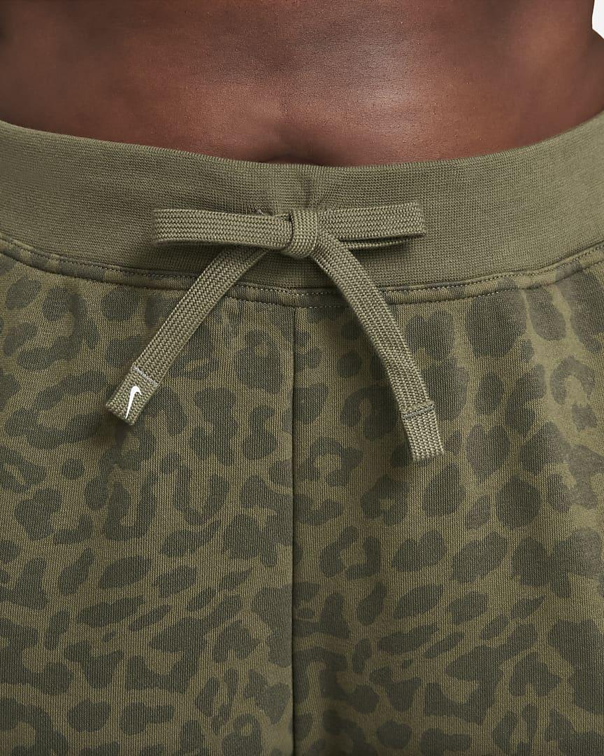Nike Dri-FIT Get Fit Women's Printed Training Pants (Plus Size) Medium Olive/Clear