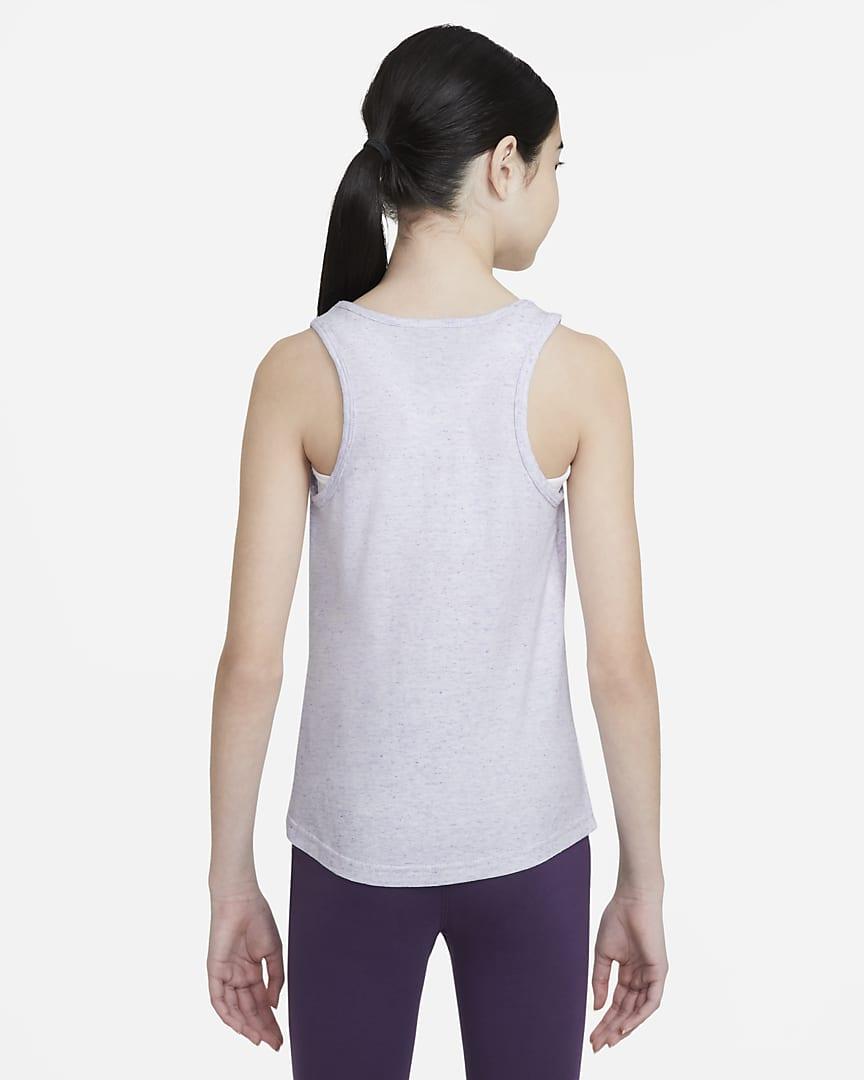 Nike Sportswear Big Kids\' (Girls\') Jersey Tank Purple Chalk/Wild Berry