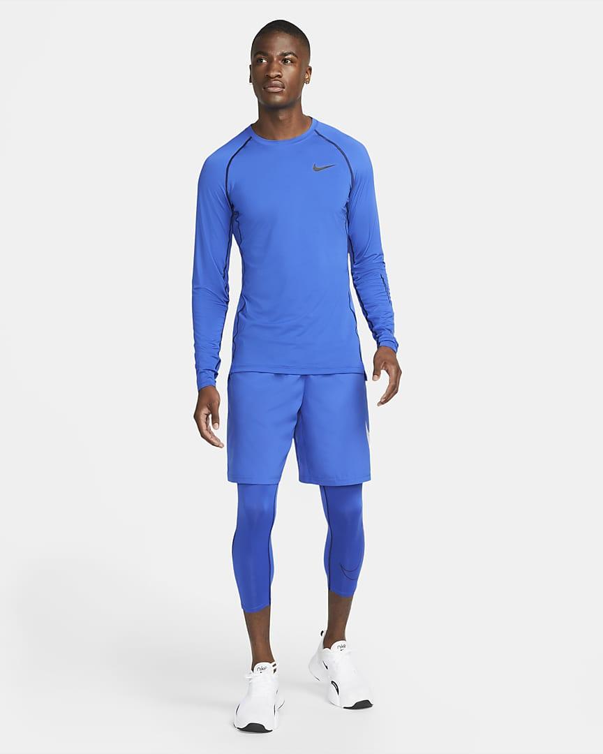 Nike Pro Dri-FIT Men\'s 3/4 Tights Game Royal/Black/Black