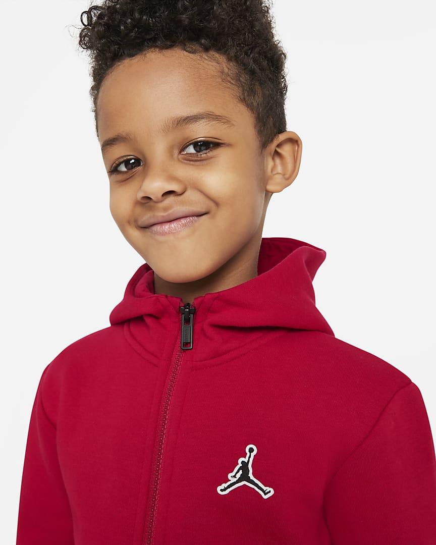 Jordan Little Kids\' Full-Zip Hoodie Gym Red