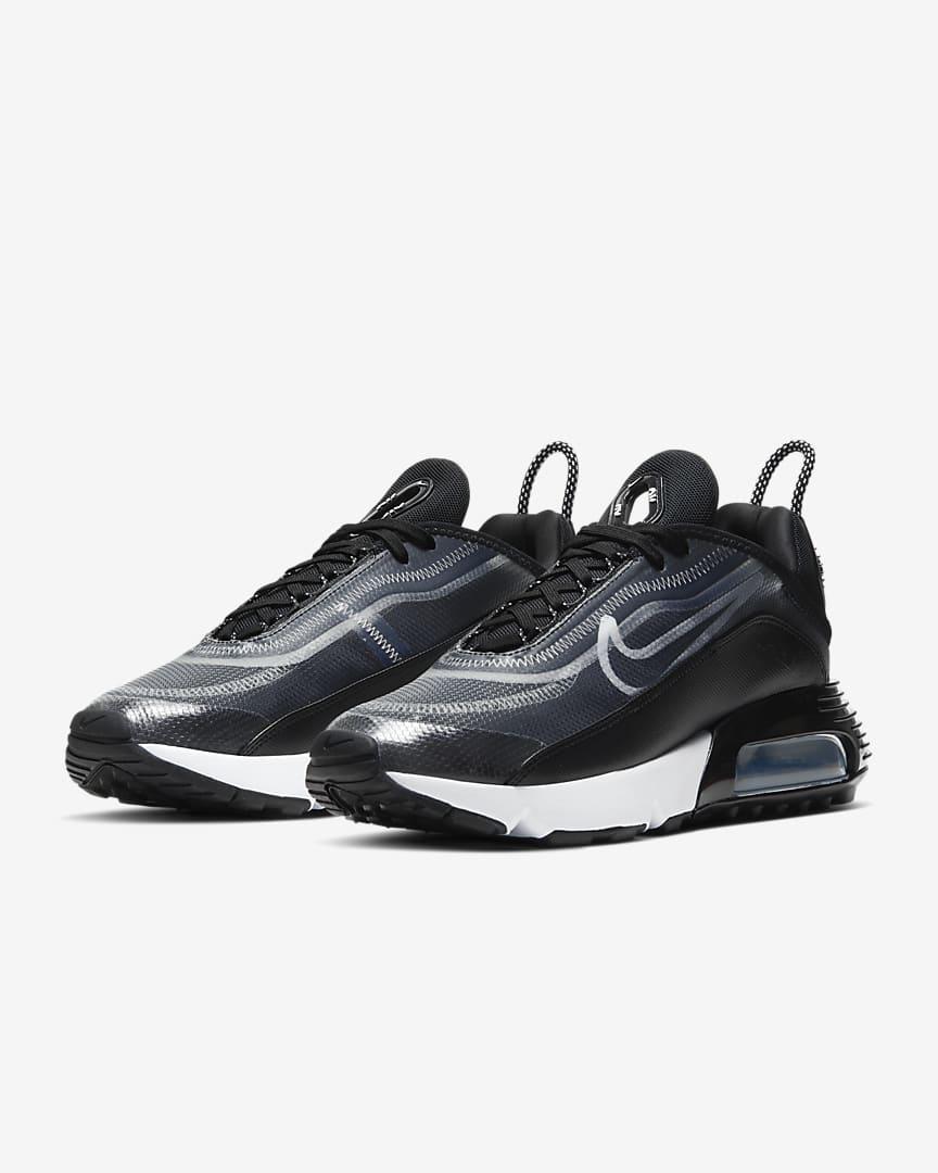 Nike Air Max 2090 Women\'s Shoes Black/Metallic Silver/White