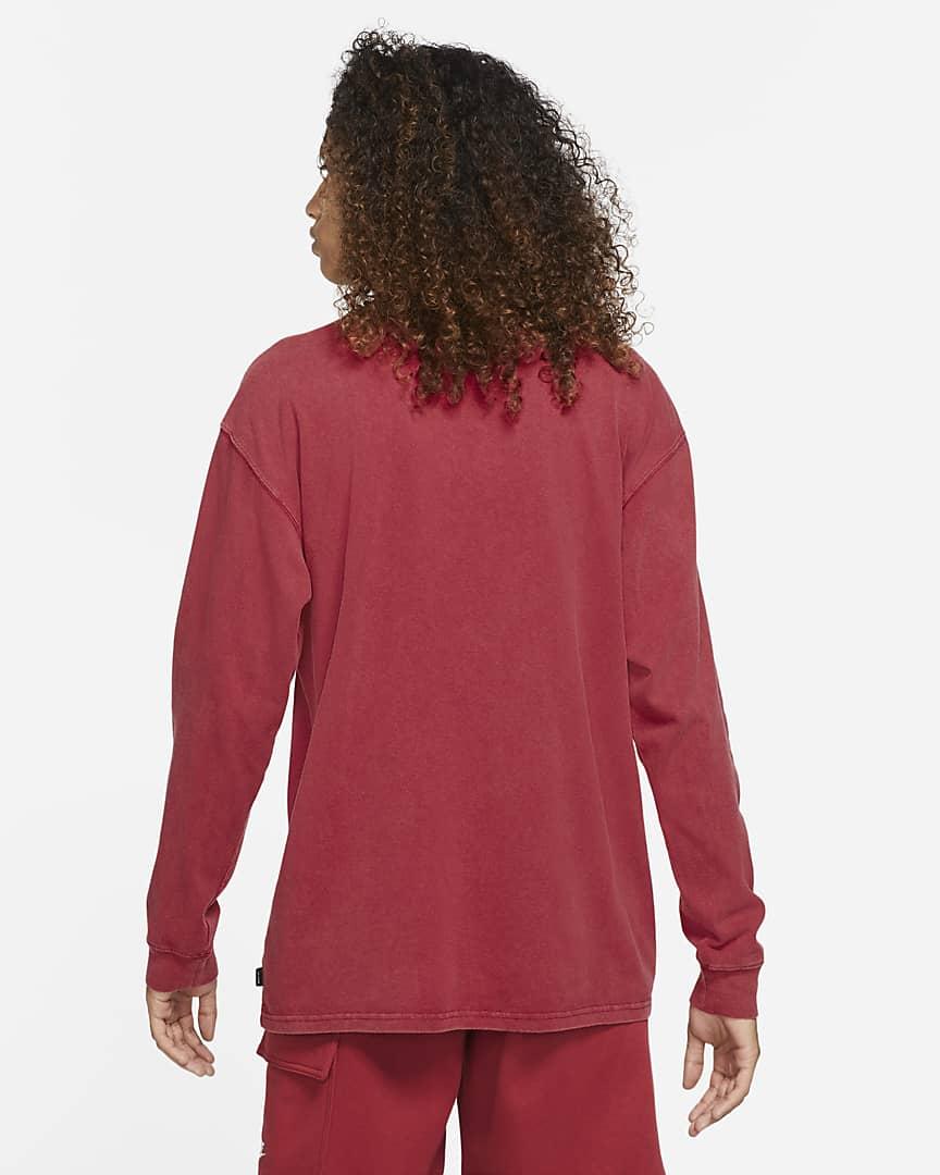 Nike Sportswear Men\'s Long-Sleeve T-Shirt Pomegranate/Black