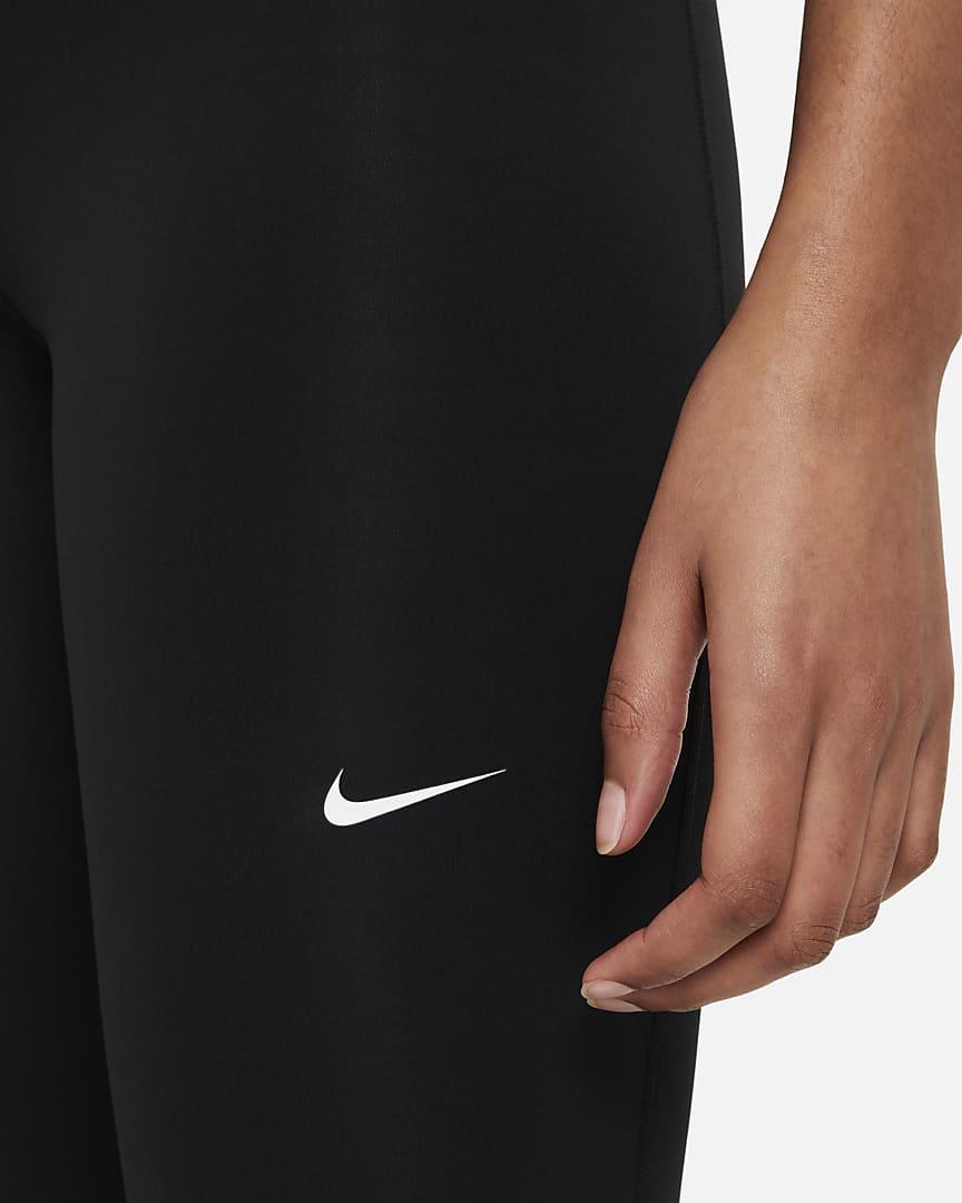 Nike Pro 365 Women\'s High-Rise 7/8 Leggings Black/White