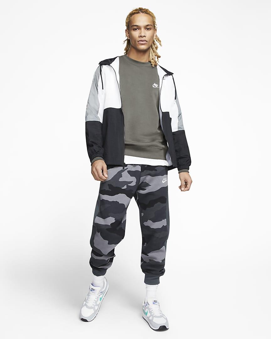 Nike Sportswear Club Fleece Crew Light Army/White
