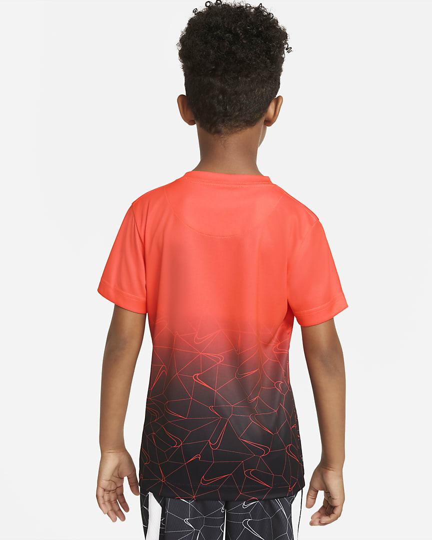Nike Dri-FIT Little Kids\' T-Shirt Bright Crimson