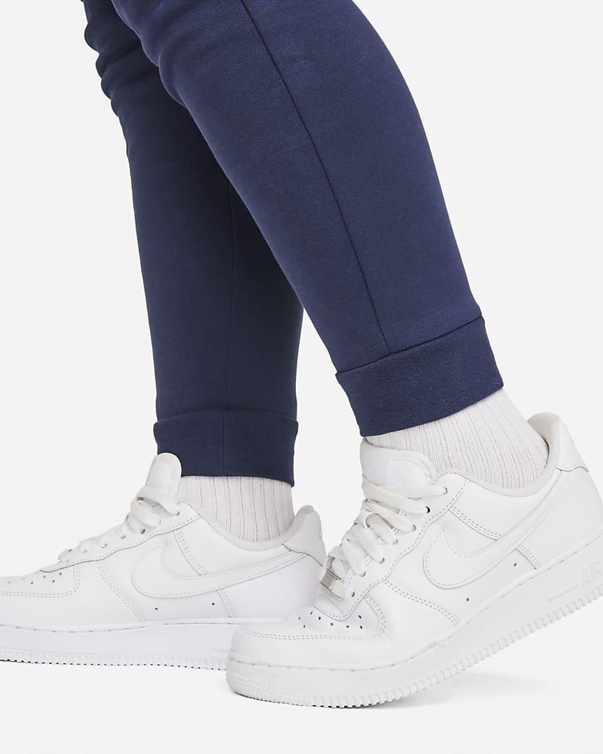 Nike Sportswear Tech Fleece Big Kids\' (Boys\') Pants (Extended Size) Midnight Navy/Black