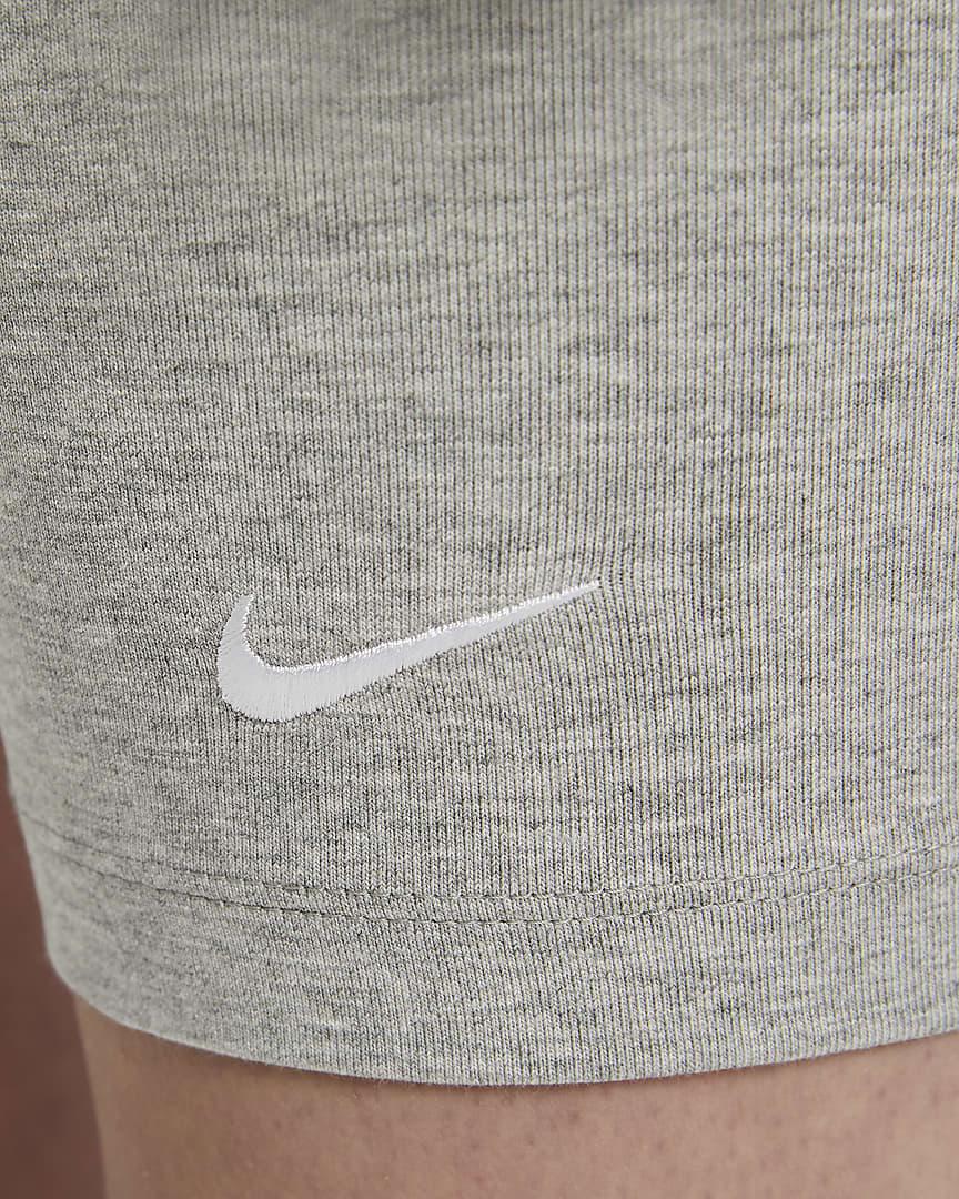 Nike Sportswear Essential Women\'s Bike Shorts Dark Grey Heather/White