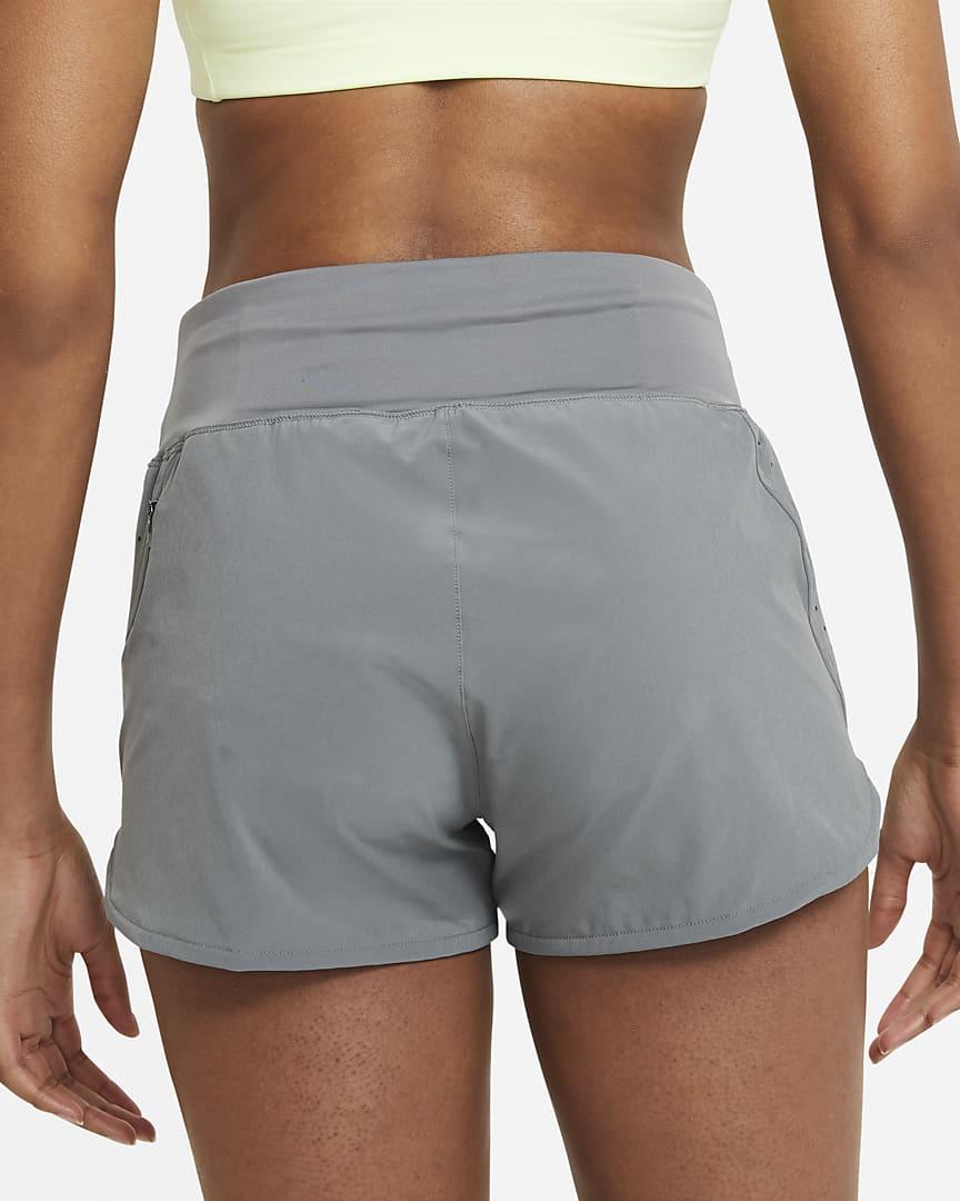 Nike Eclipse Women\'s Running Shorts Smoke Grey