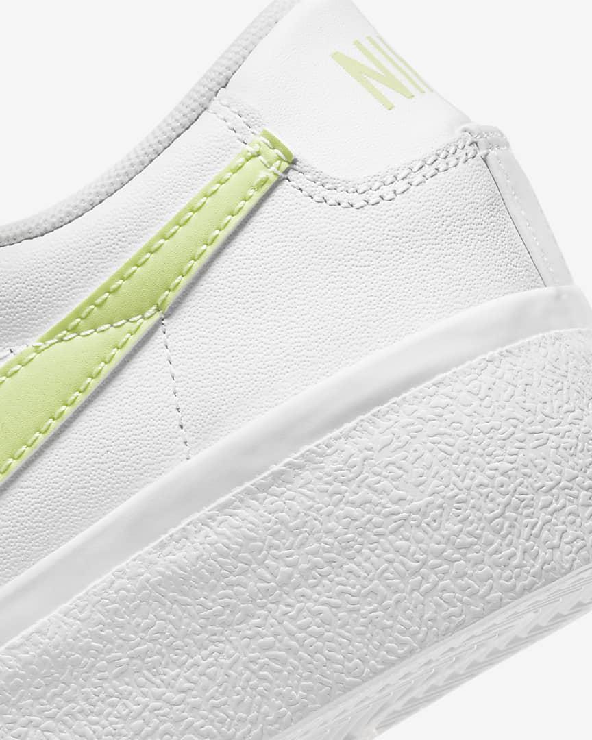 Nike Blazer Low Platform Women\'s Shoes White/White/Black/Light Lemon Twist