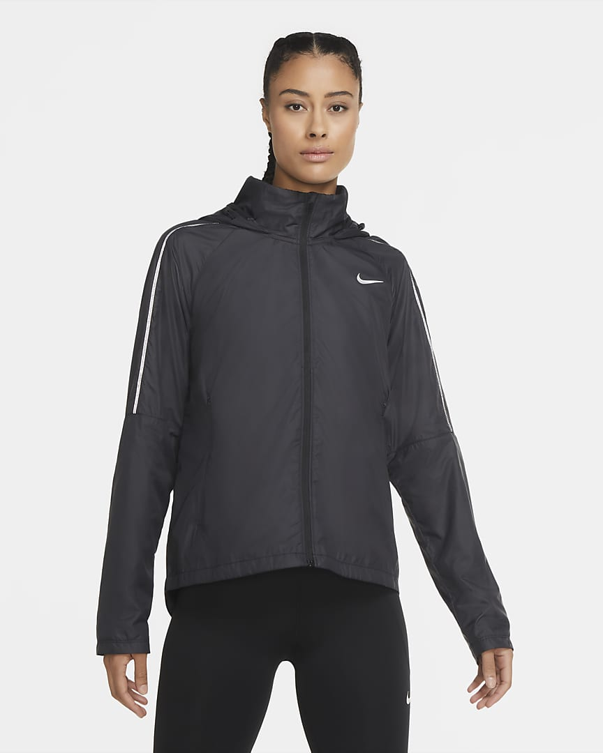 Nike Shield Women\'s Running Jacket Black/Black