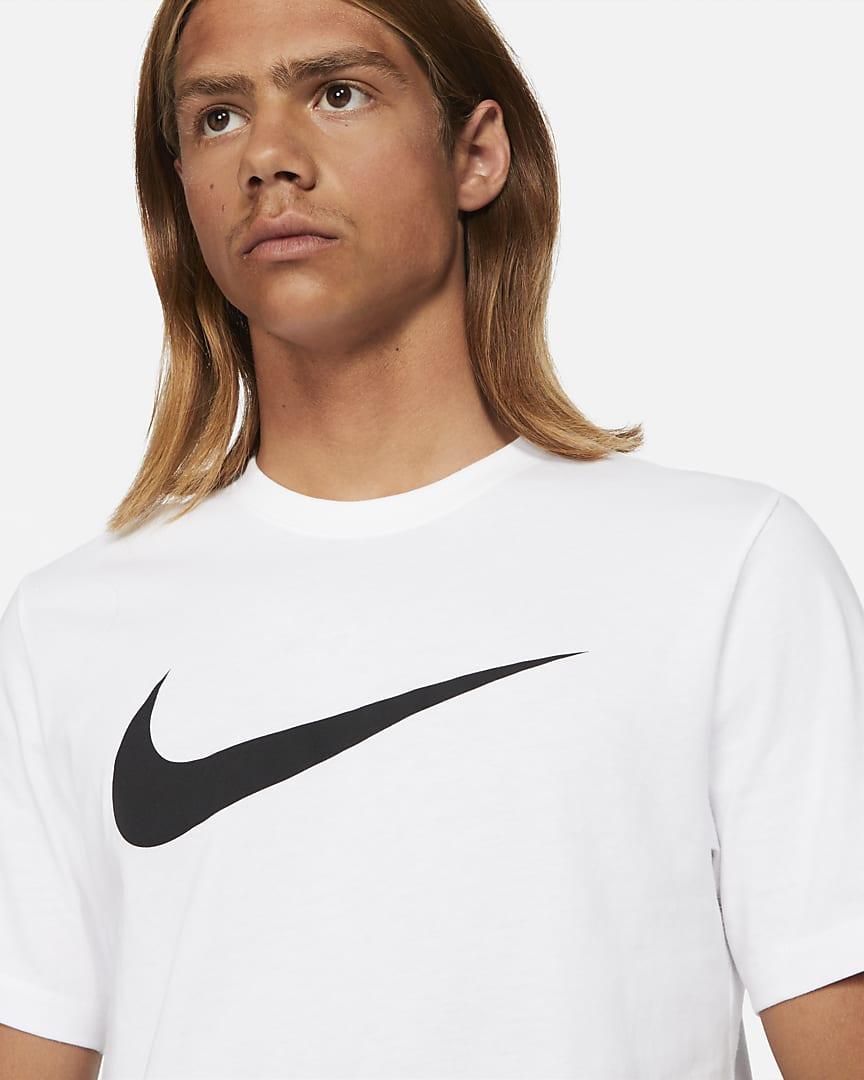 Nike Sportswear Swoosh Men\'s T-Shirt White/Black