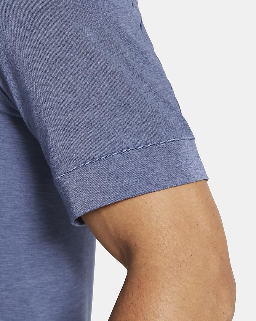 Nike Yoga Dri-FIT Men\'s Short-Sleeve Top Midnight Navy/Ashen Slate/Black