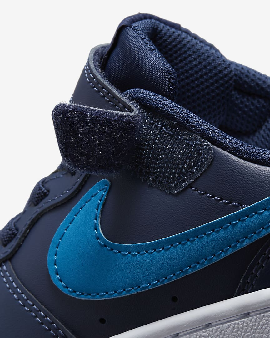 Nike Court Borough Low 2 Little Kids\' Shoes Midnight Navy/Black/Imperial Blue