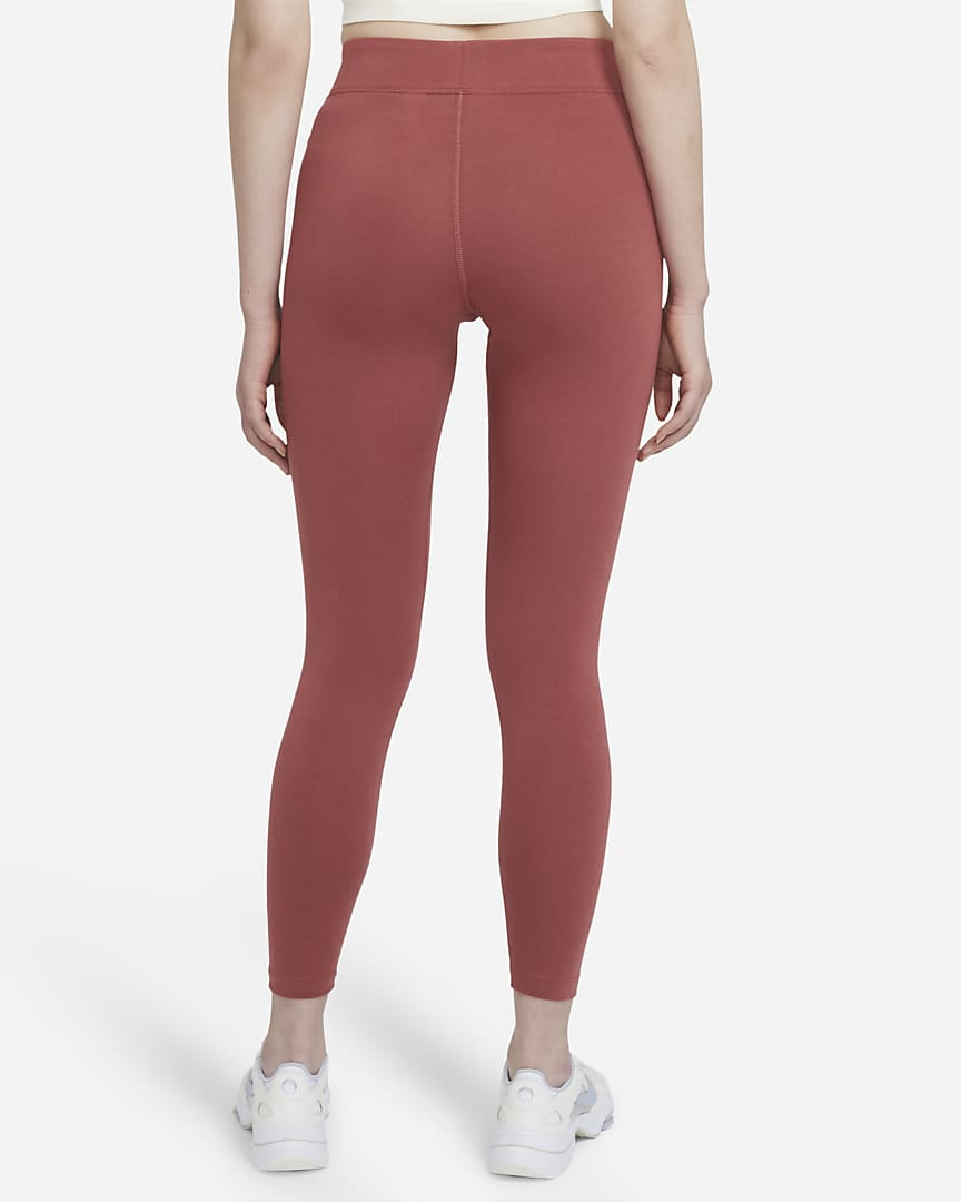 Nike Sportswear Essential Women\'s 7/8 Mid-Rise Leggings Canyon Rust/White