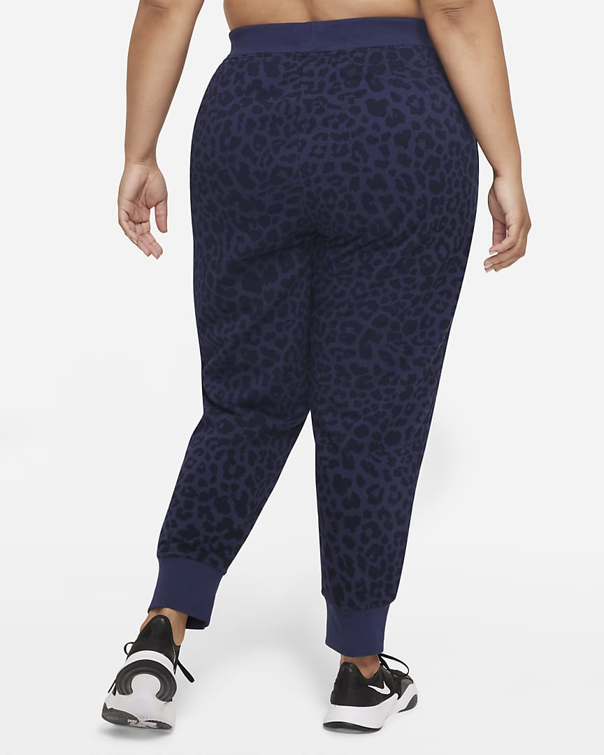 Nike Dri-FIT Get Fit Women's Printed Training Pants (Plus Size) Midnight Navy/Clear