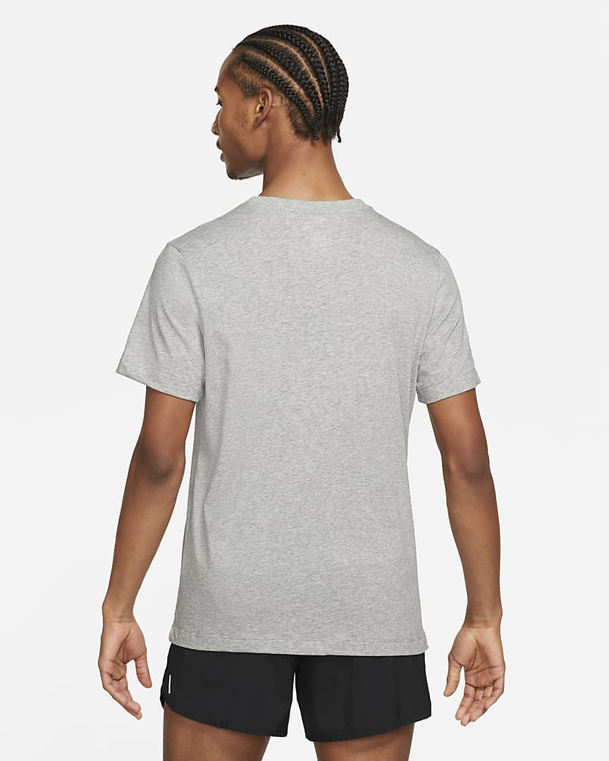 Nike Dri-FIT Men\'s Running T-Shirt Dark Grey Heather