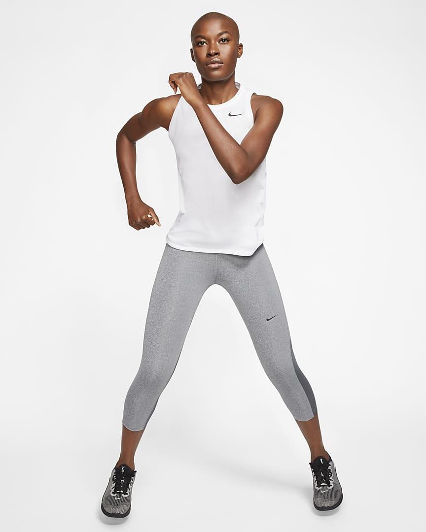 Nike Dri-FIT Women\'s Training Tank White/Black