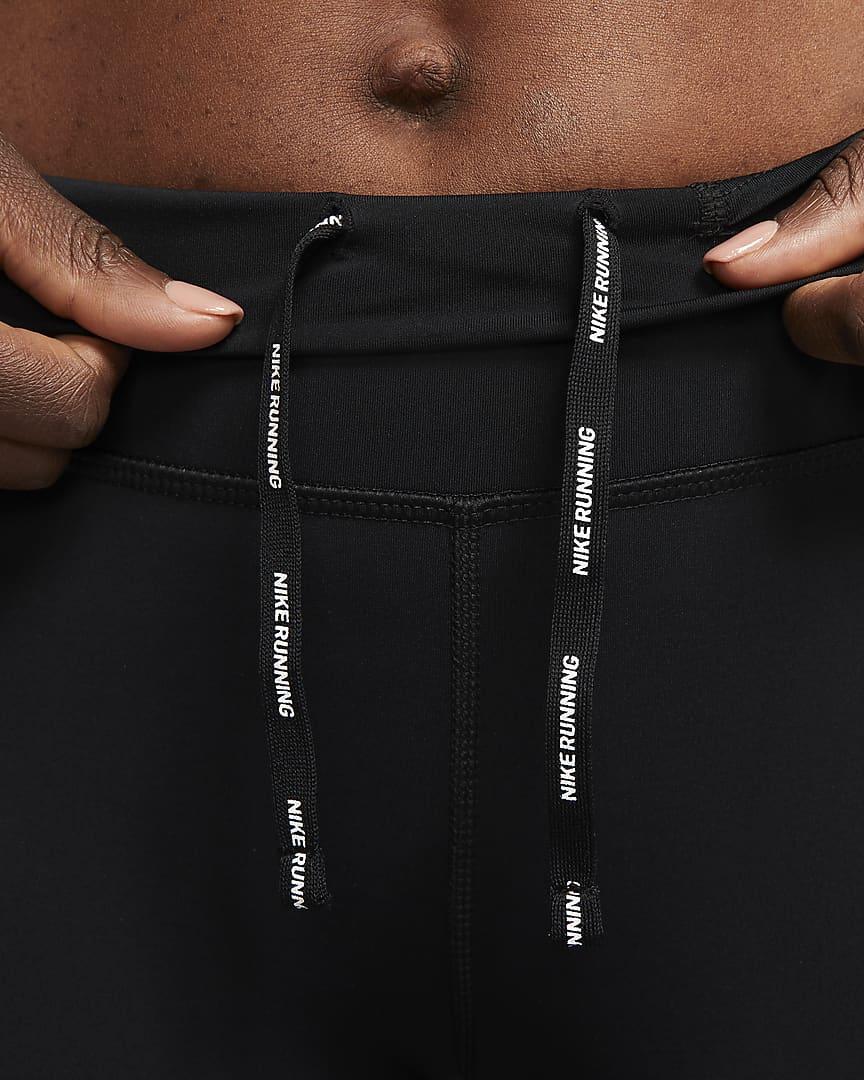 Nike Epic Luxe Women\'s Mid-Rise Crop Pocket Running Leggings Black