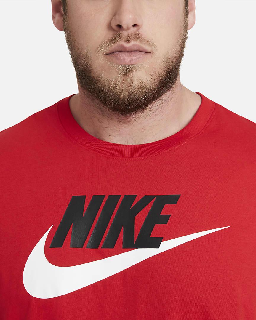 Nike Sportswear Men\'s T-Shirt University Red/Black/White