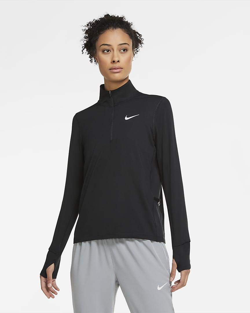 Nike Element Women\'s 1/2-Zip Running Top Black
