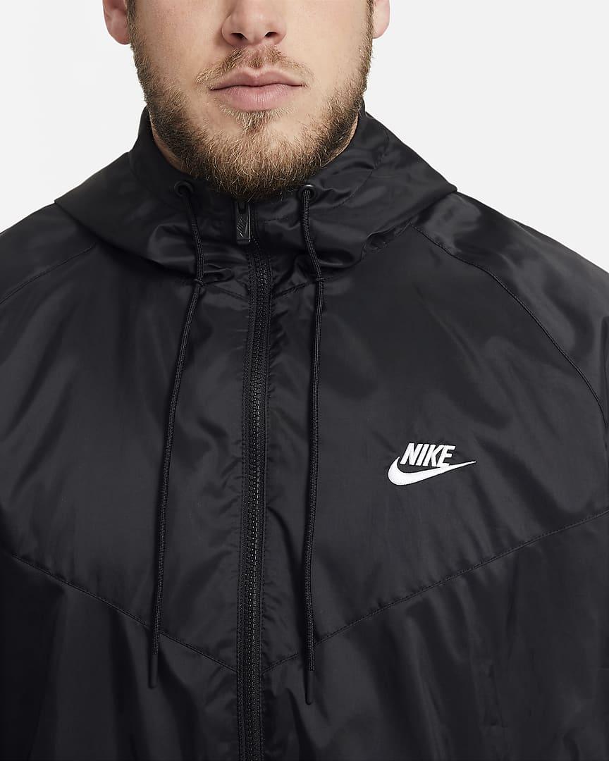 Nike Sportswear Windrunner Men\'s Hooded Jacket Black/White