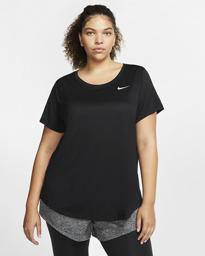 Nike Dri-FIT Legend Women\'s Training T-Shirt (Plus Size) Black/White