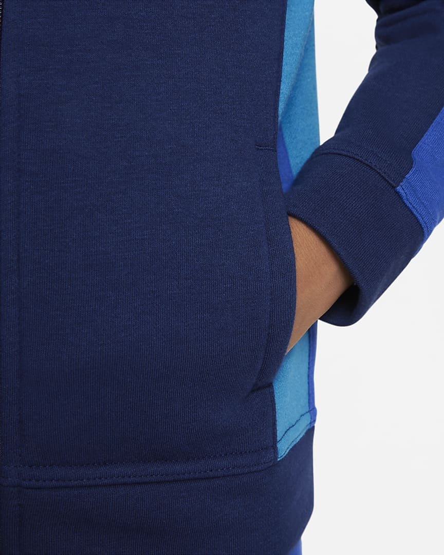 Nike Little Kids\' Full-Zip Hoodie Blue Void
