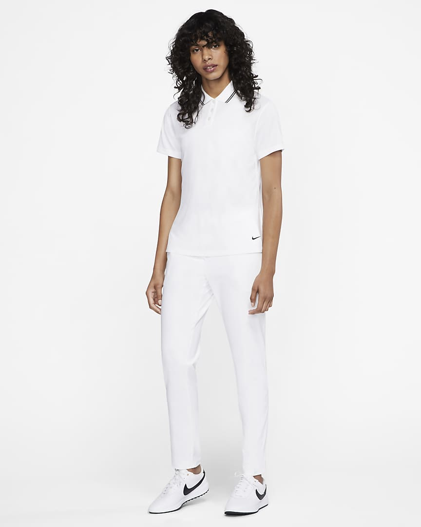 Nike Dri-FIT Victory Women's Golf Polo White/Black/Black