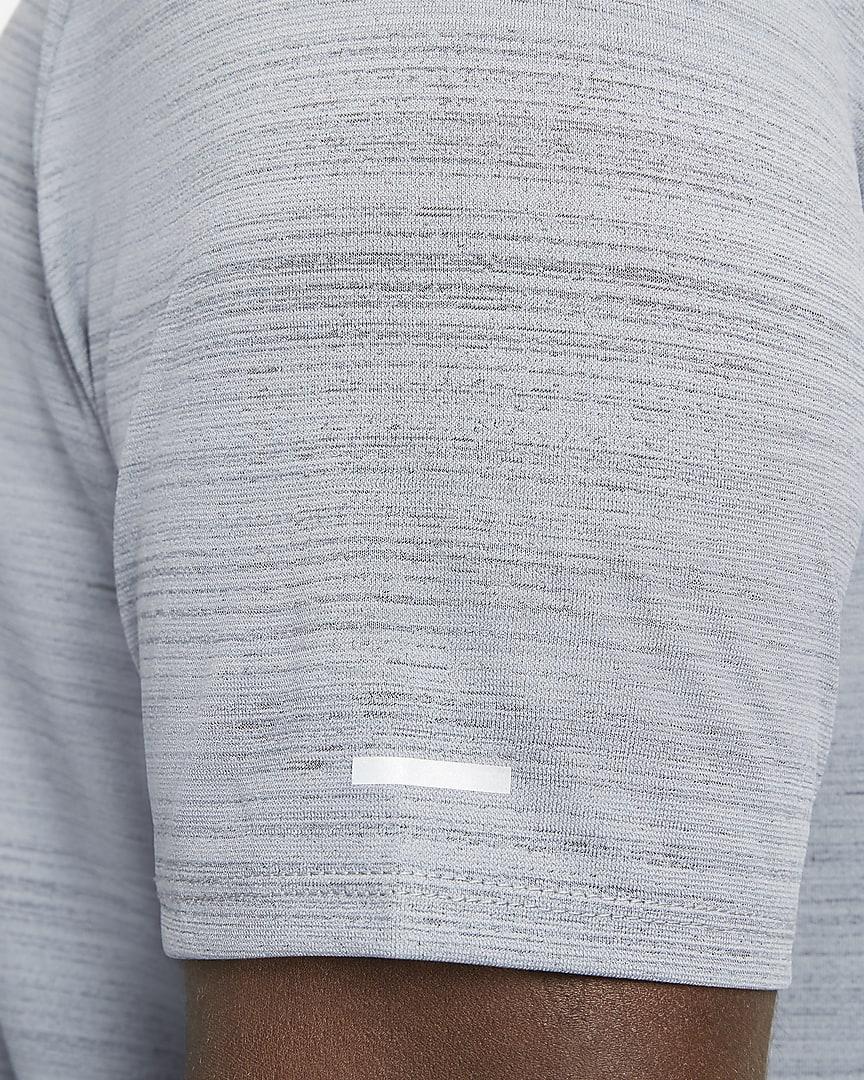 Nike Dri-FIT Miler Men\'s Running Top Smoke Grey