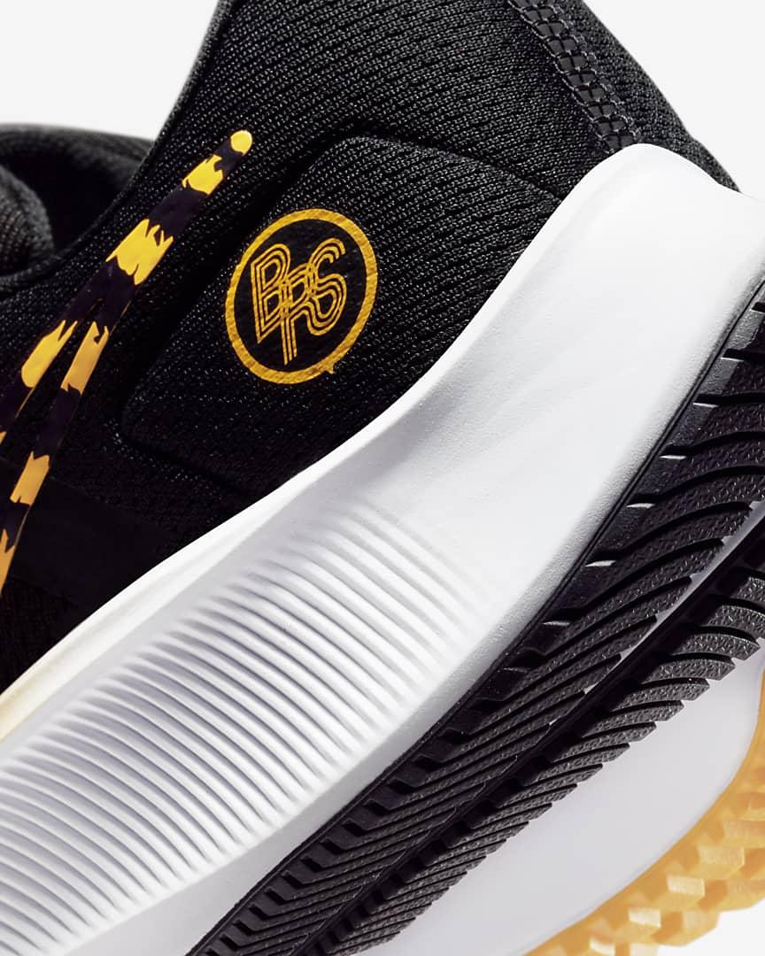 Nike Air Zoom Pegasus 38 Men\'s Road Running Shoes Black/White/Orange/University Gold