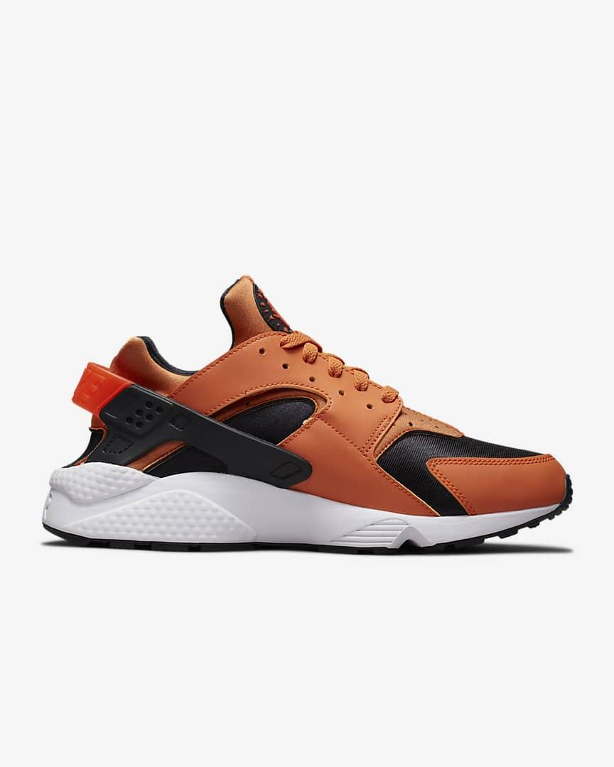 Nike Air Huarache Men\'s Shoes Hot Curry/Black/White/Orange