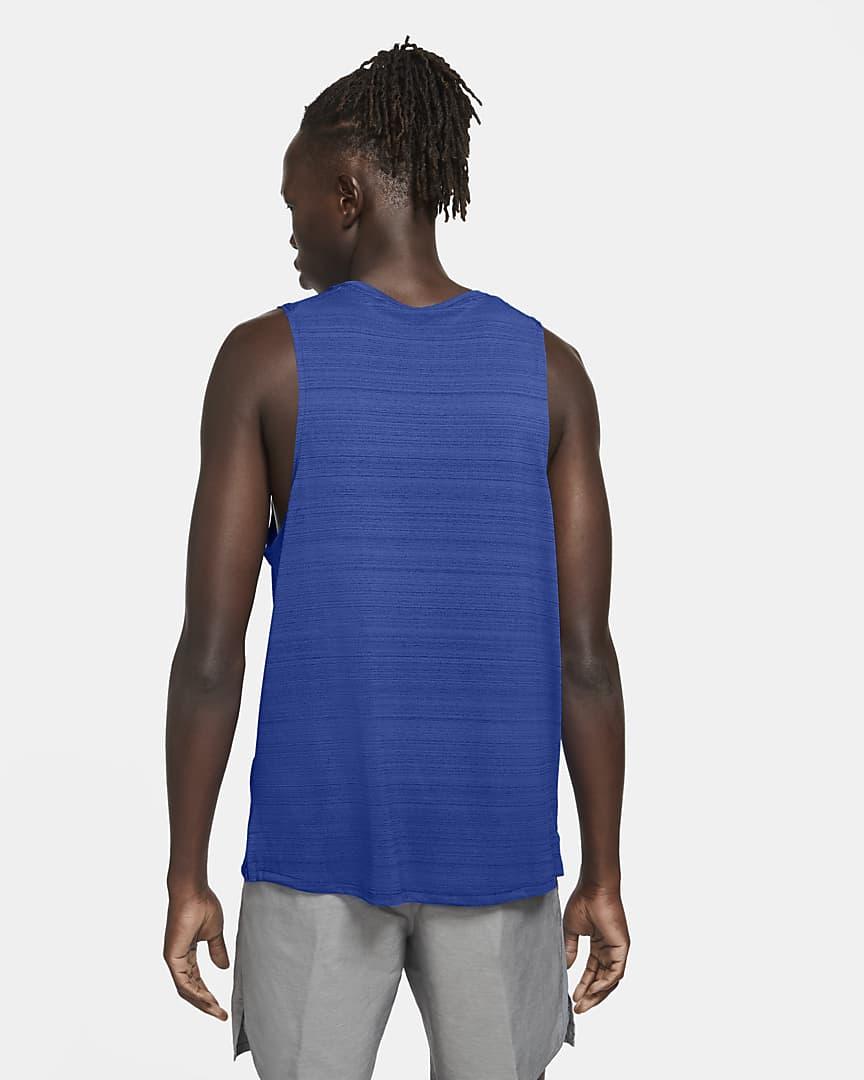 Nike Dri-FIT Miler Men\'s Running Tank Game Royal