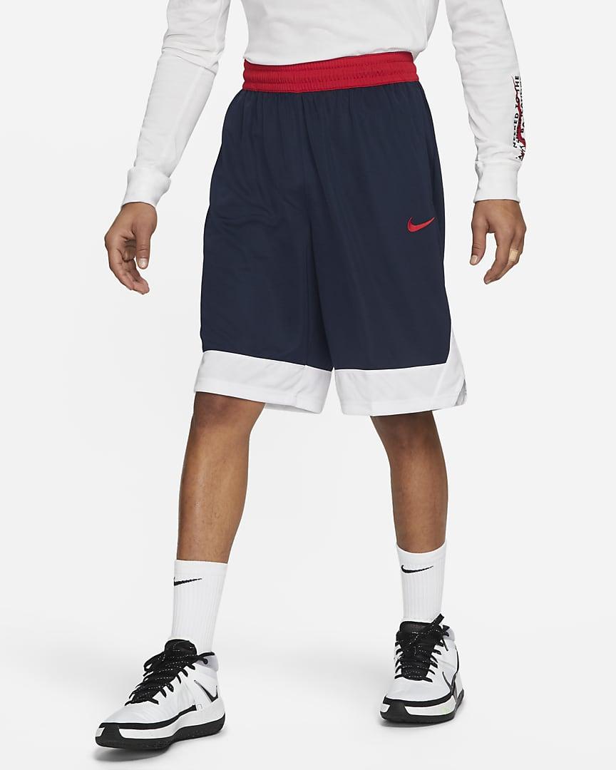Nike Dri-FIT Icon Men\'s Basketball Shorts College Navy/White/University Red