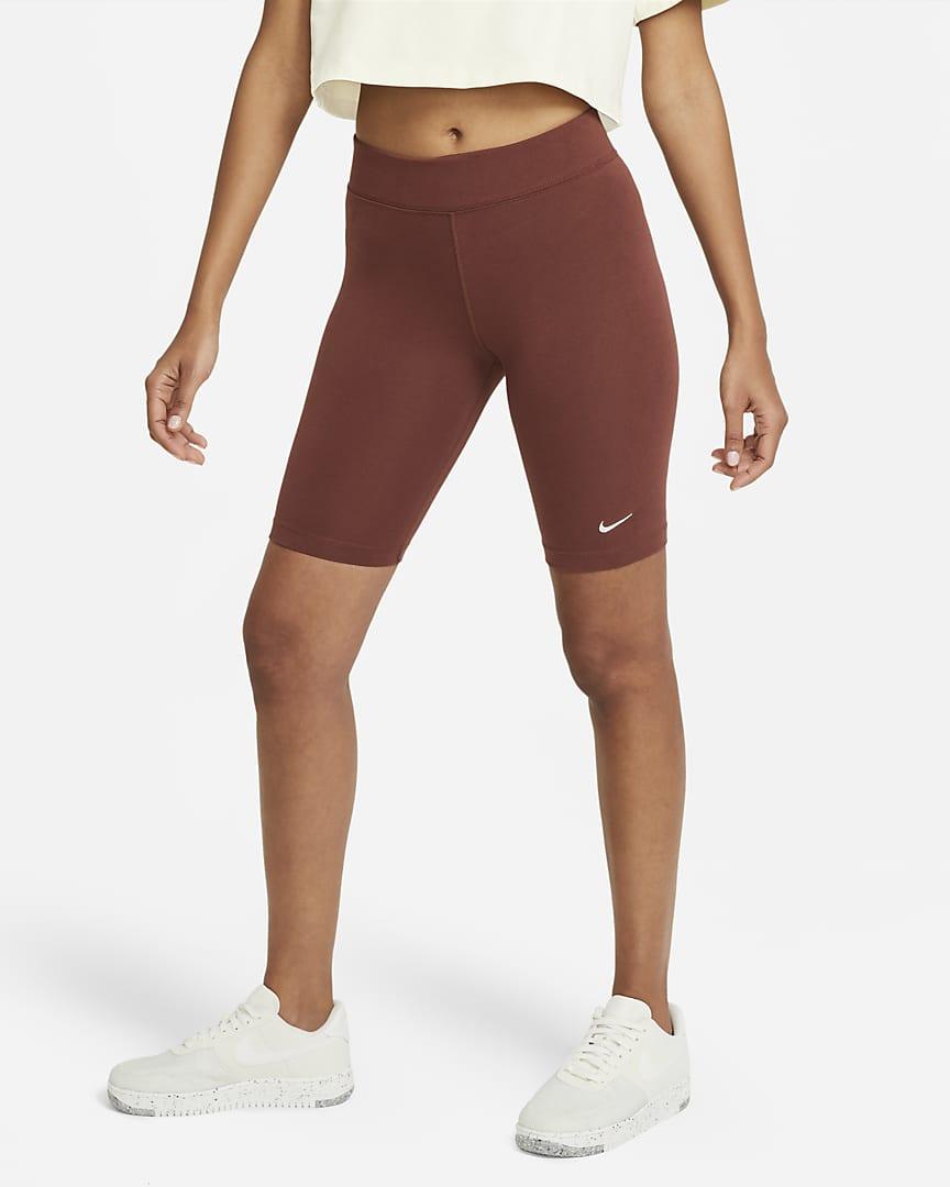 Nike Sportswear Essential Women\'s Bike Shorts Dark Pony/White