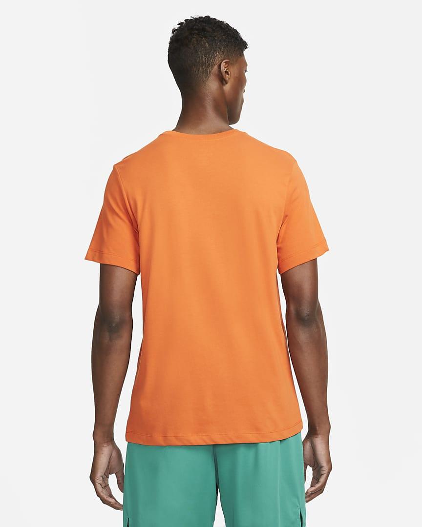 Nike Dri-FIT Men's Swoosh Training T-Shirt Sport Spice