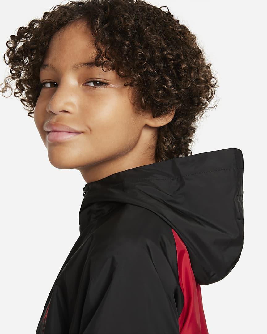 Jordan Big Kids\' (Boys\') Full-Zip Jacket Gym Red