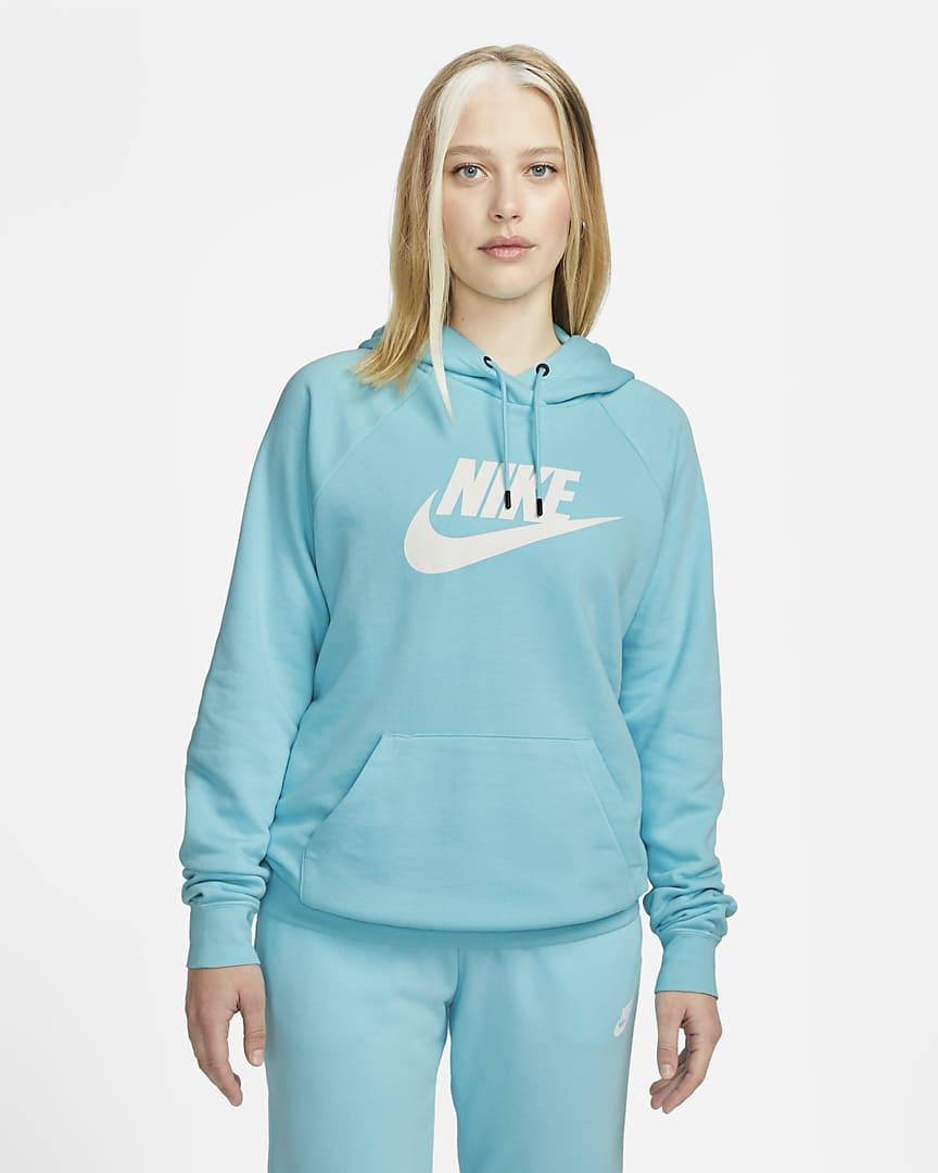 Nike Sportswear Essential Women\'s Fleece Pullover Hoodie Copa/White