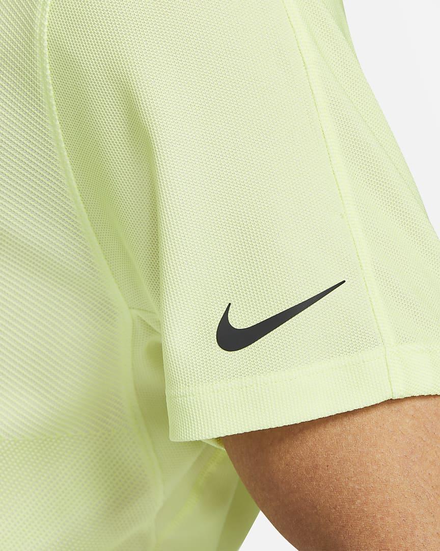 Nike Dri-FIT ADV Tiger Woods Men\'s Golf Polo White/Light Lemon Twist/Black