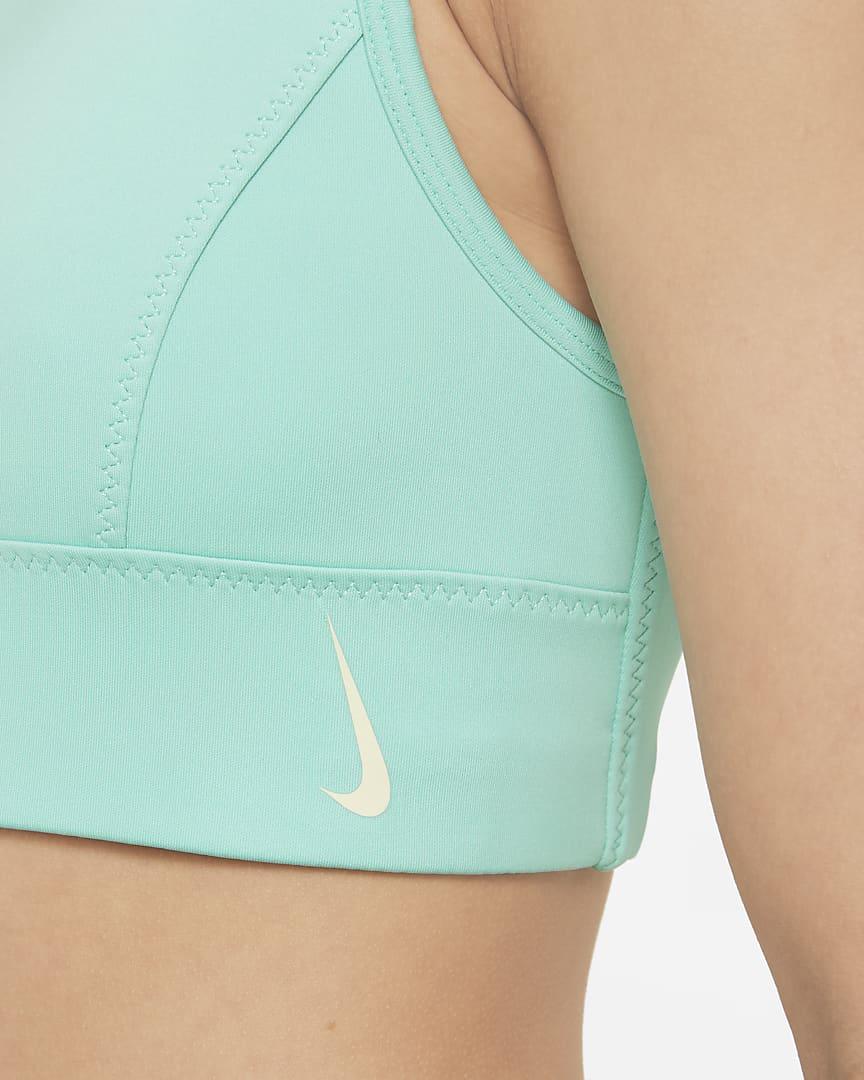 Nike Swoosh Luxe Big Kids\' (Girls\') Longline Sports Bra Tropical Twist/Coconut Milk