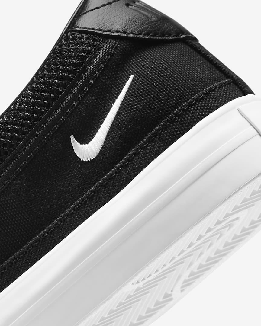 Nike Court Legacy Women\'s Slip-On Black/Platinum Tint/White