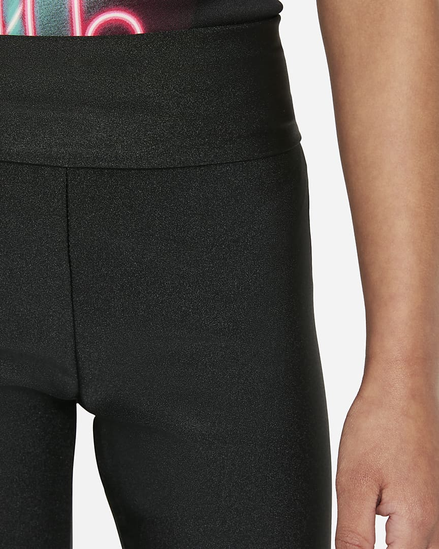 Nike Little Kids\' High-Waisted Shorts Black