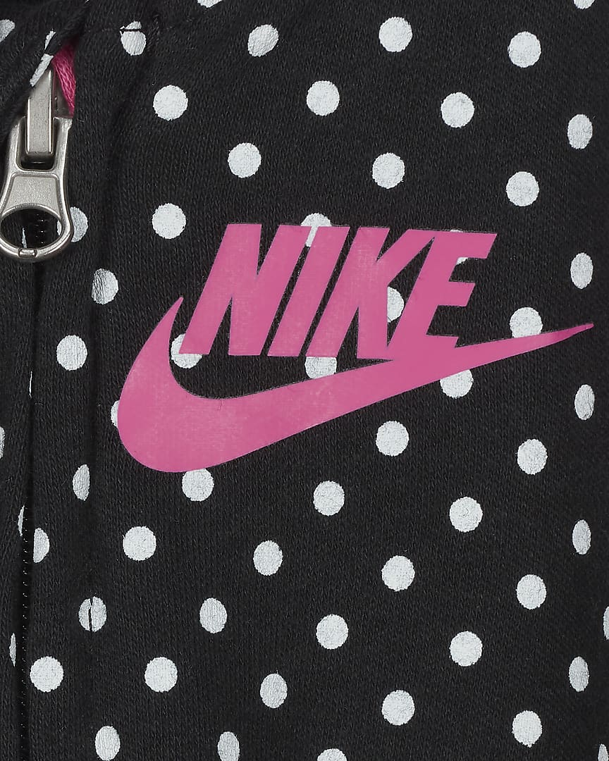 Nike Baby (0-9M) Footed Coverall Black