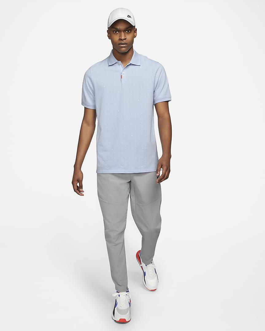 The Nike Polo Men\'s Printed Polo Hydrogen Blue/Hydrogen Blue