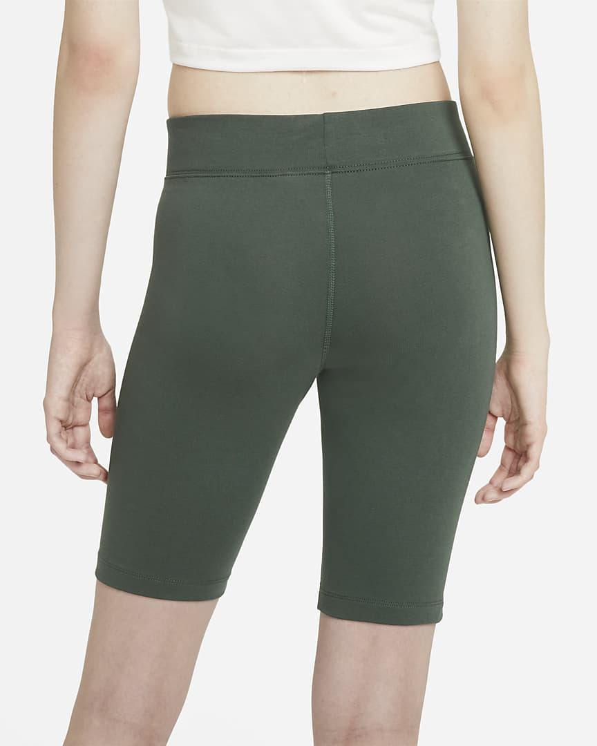 Nike Sportswear Essential Women\'s Bike Shorts Galactic Jade/White
