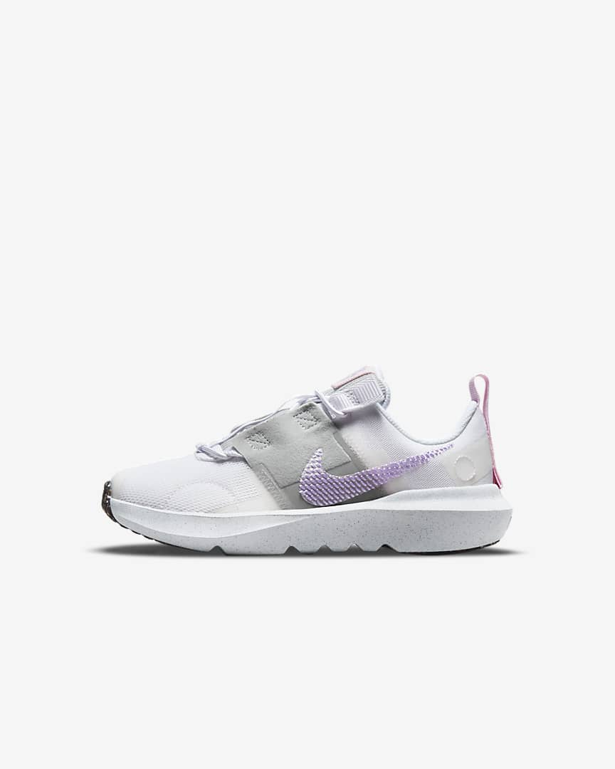 Nike Crater Impact Little Kids\' Shoes White/Grey Fog/Pink Foam/Lilac