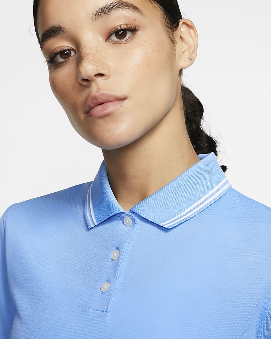 Nike Dri-FIT Victory Women's Golf Polo University Blue/White/White