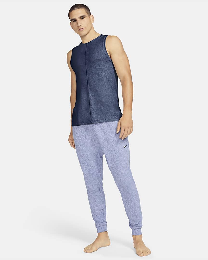 Nike Yoga Men\'s Tank Midnight Navy/Ashen Slate/Black